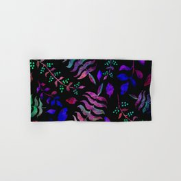 Dark floral 2 Hand & Bath Towel