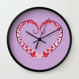 Tentacle Valentine Wall Clock