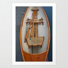 Canoe Rattan Boat Skiff Marina Boats Rowboat Washington Northwest Ocean Outdoors Island Fishing Art Print