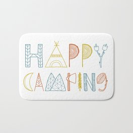 Happy Camping Fall Bath Mat