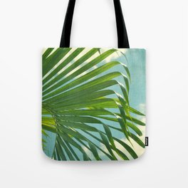 palm tree and clouds Tote Bag