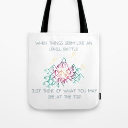 Motivation Mountian Tote Bag