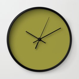 Pantone 16-0543 Golden Lime Wall Clock