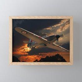 A Fighter Plane Returns Home Framed Mini Art Print