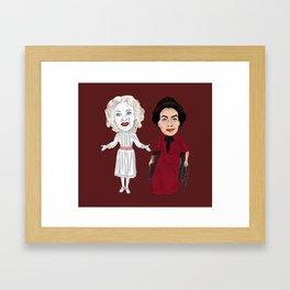 Whatever Happened to Baby Jane, Bette Davis, Joan Crawford Inspired Illustration Framed Art Print