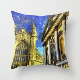 City Of Bath Vincent Van Gogh Throw Pillow
