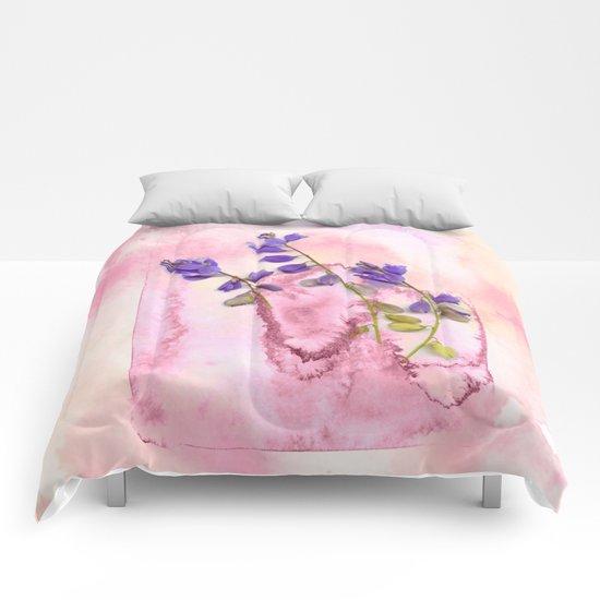 herbarium in pink Comforters