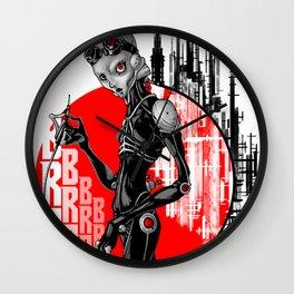 Cyborg cyberpunk Wall Clock