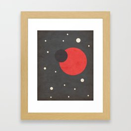 Red- Space is Hot Framed Art Print