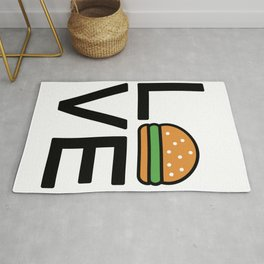 Love Burgers Cute And Funny Love Design Rug