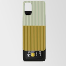 Color Block Lines XXI Moss Android Card Case