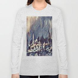 snowy village Long Sleeve T-shirt
