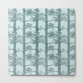 Pine Forest (Mint and Pine) Metal Print