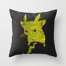 Yellow Monster Throw Pillow