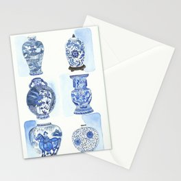 Chinese vases Stationery Cards
