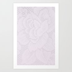 Lavender Lace Art Print