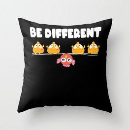 Be Different Bird Birds Aviculture Peace Throw Pillow