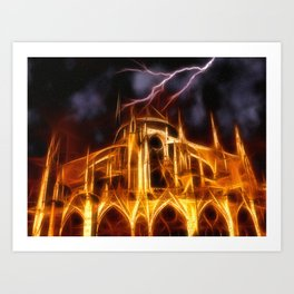 Notre-Dame Cathedral in Paris Art Print