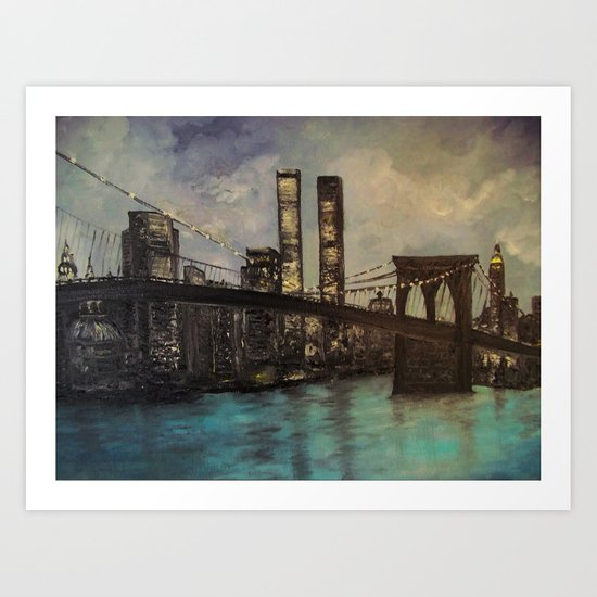 The Twin Towers, New York, NY  Art Print