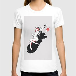 Bombshell - Statue of Liberty Political Art Print T-shirt