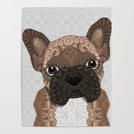 Brown Frenchie Puppy 001 Poster