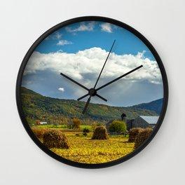 On the Farm Wall Clock