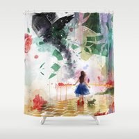 kansas Shower Curtains featuring Not in Kansas Anymore by Travis Clarke