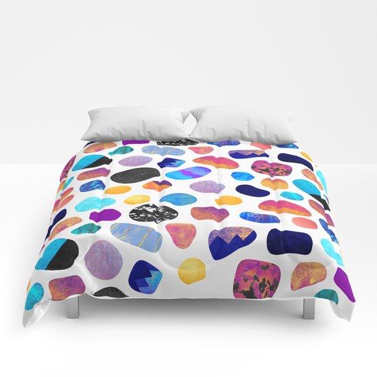 Magic Stones (Light background) Comforters