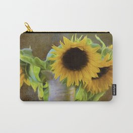 It's What Sunflowers Do - Flower Art Carry-All Pouch