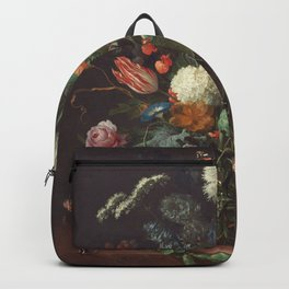 Jan Davidsz De Heem - Vase Of Flowers Backpack