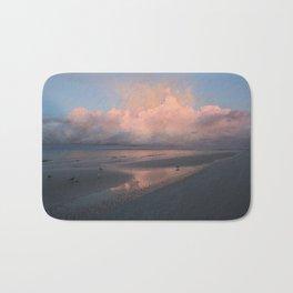 Morning Walk on the Beach Bath Mat