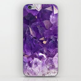 Purple Amethyst Crystal iPhone Skin