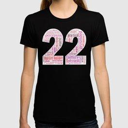 Life Path 22 (black background) T-shirt