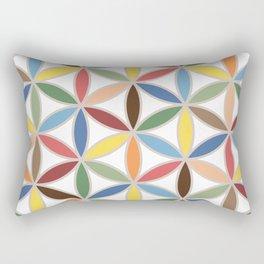 Flower of Life Retro Color Big Pattern Rectangular Pillow