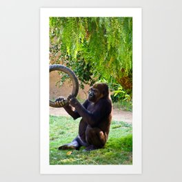 Happiness is a Tire Swing Art Print