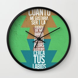 Fuente de las Amapolas Wall Clock