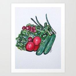 Freshly Uncut Salad Art Print