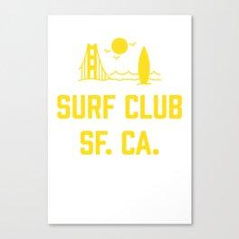 Surf Club SF. CA. Canvas Print