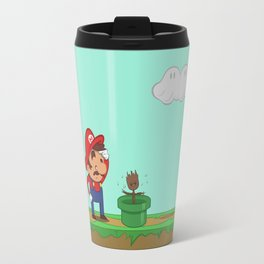 Mario is confused. Travel Mug