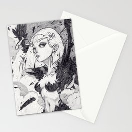 Harpy (graphite) Stationery Cards