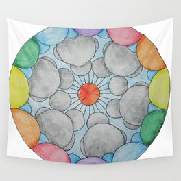 Interplanetary Elephants with Balloons Wall Tapestry