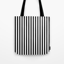 Black & White Small Vertical Stripes - Mix & Match with Simplicity of Life Tote Bag