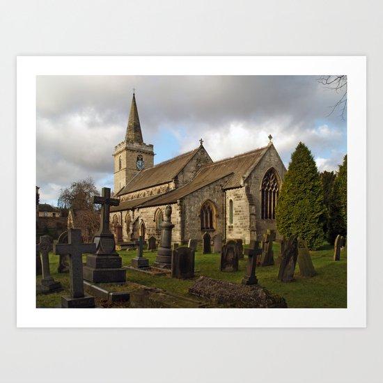 St. Ricarius, Aberford. Art Print