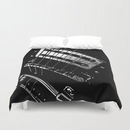 6 Strings Of Joy Duvet Cover