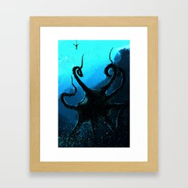 Tentacle God Framed Art Print