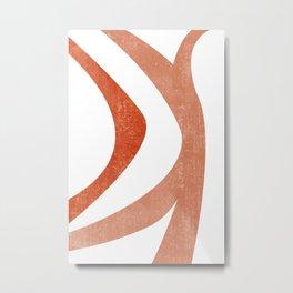 Terracotta Art Print 5 - Terracotta Abstract - Modern, Minimal, Contemporary Print - Burnt Orange Metal Print