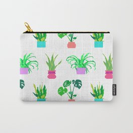 Simple Potted Plants in White Carry-All Pouch