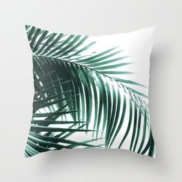 Palm Leaves Green Vibes #8 #tropical #decor #art #society6 Throw Pillow