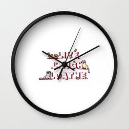 Live Laugh Loathe Wall Clock