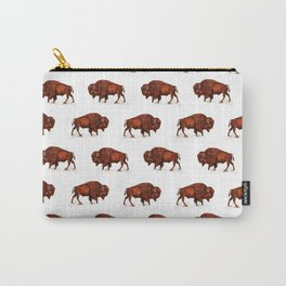 Buffalo Bison Watercolor Print Carry-All Pouch